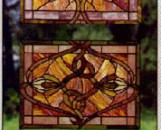 Tiffany Stained Glass Flora Designs Three Piece