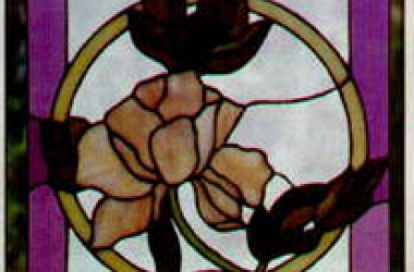 Tiffany Stained Glass Flora Designs Begonia