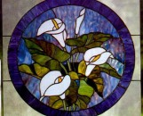 Tiffany Stained Glass Flora Designs Callas