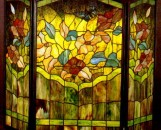 Tiffany Stained Glass Magnolia Fireplace Screen