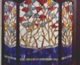 Tiffany Stained Glass Floral Fireplace Screen