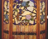 Tiffany Stained Glass Paradise Garden Fireplace Screen