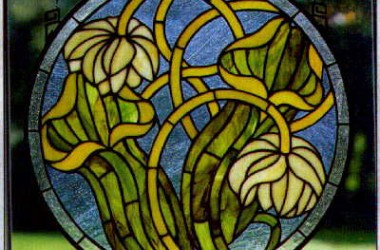 Tiffany Stained Glass Flora Designs III