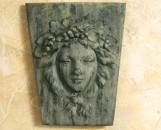 Plaque: Lady With Grapes