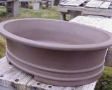 Lotus Bonsai Pot Matte Large Oval Globular