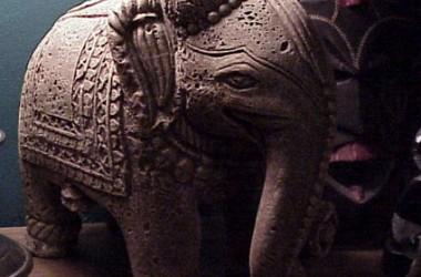 Elephant Cast In Resin