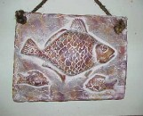Ceramic Mexican Fish Plaque Red