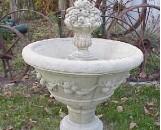 Garden Fountain With Grape Design