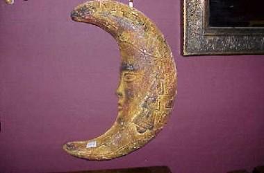 Ceramic Mexican Moon Plaque