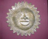 Ceramic Mexican Sun Plaque