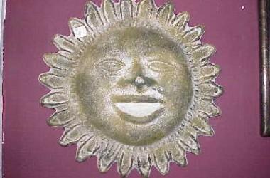 Ceramic Mexican Sun Plaque