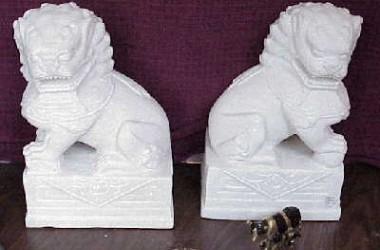 Fu Dog White Marble