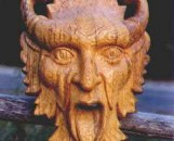 The Green Man in Walnut